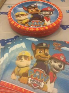 Paw Patrol Plates and Napkins