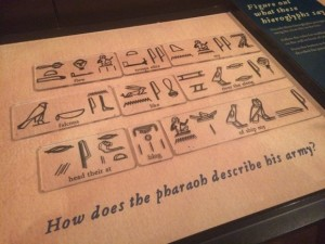 Hieroglyphs at the Franklin Institute