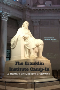 The Franklin Institute Camp In Giveaway