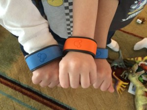 The kids loved wearing magic bands during the party!
