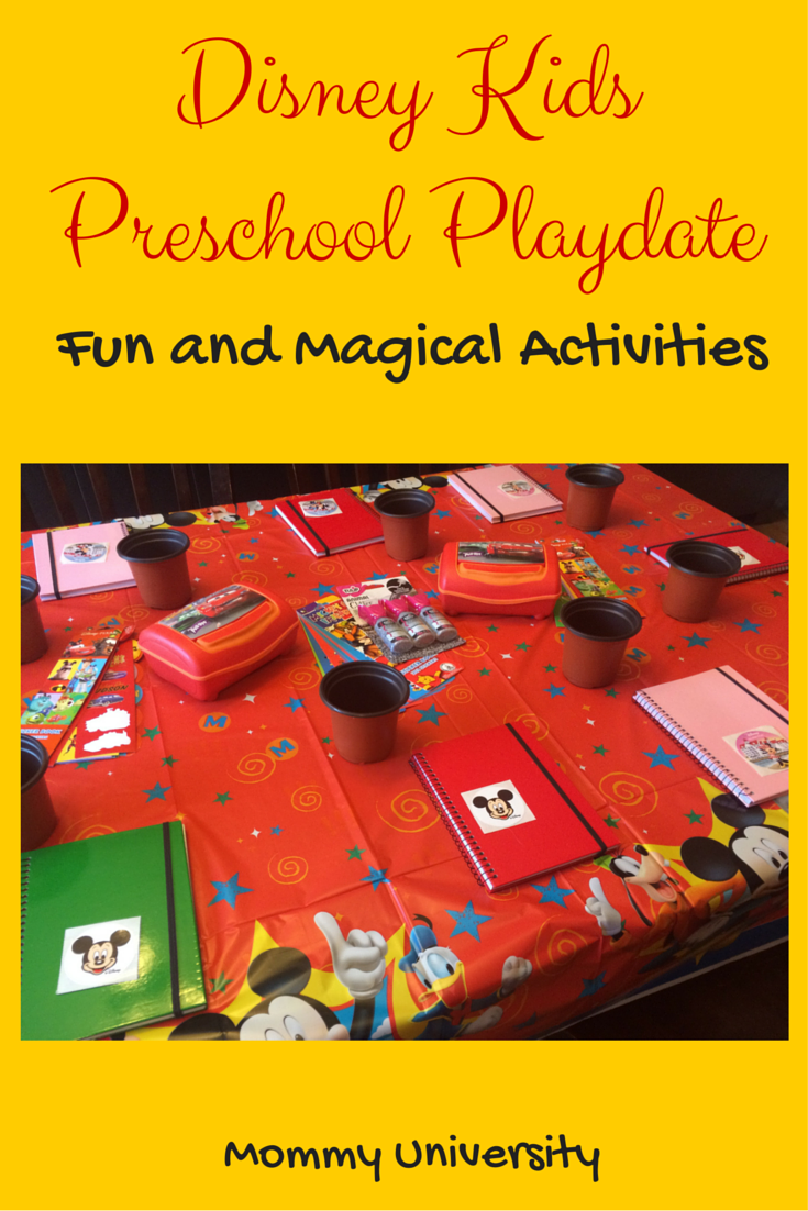 Disney Kids Preschool Playdate Activities