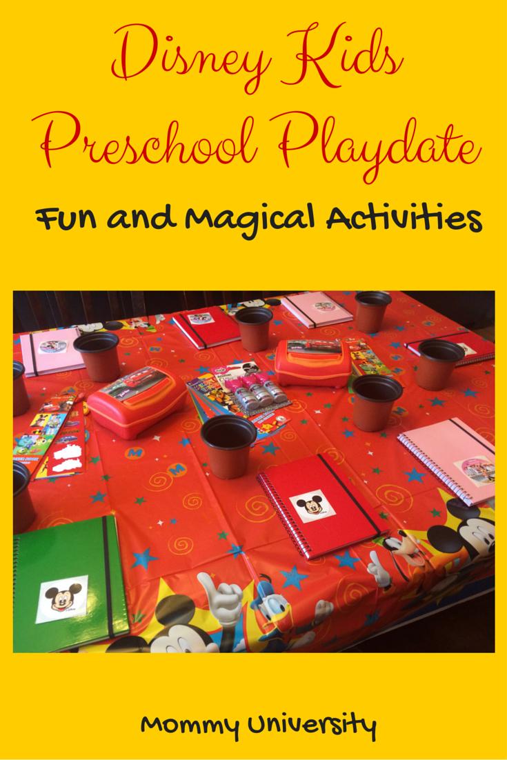 Disney Kids Preschool Playdate Activities