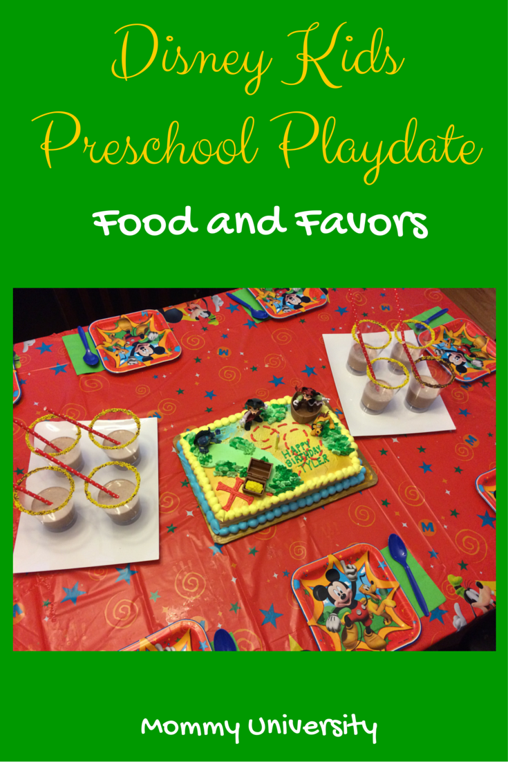 Disney Kids Preschool Playdate Food and Favors