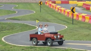 Mini Land Rover at Diggerland
