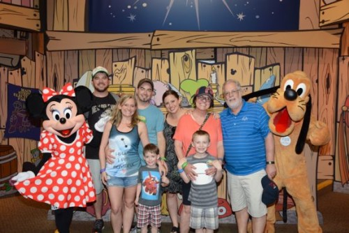 At the Disney Credit Card photo station at Epcot, you get to meet your favorite classic Disney characters!