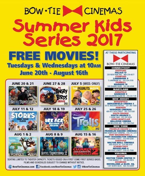 Bow Tie Cinemas 2017 Summer Kids Series