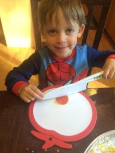 The knife is so safe that even my 4-year-old was able to use it to cut his pepperoni!