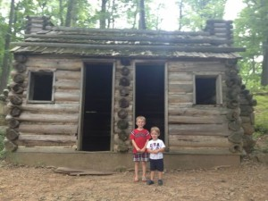 While exploring, families can see where the soldiers slept during that harsh winter!