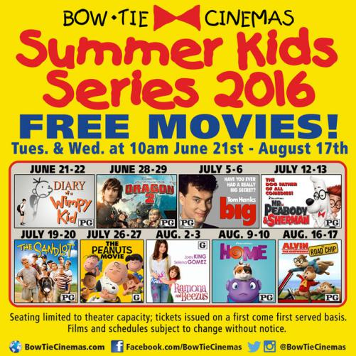 Bow Tie Cinemas 2016 Schedule