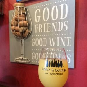 Bottle and Bottega Good Friends Sign