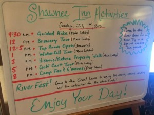 Shawnee Inn Calendar of Events