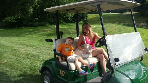 Shawnee Inn Golf Cart Tour with my Son
