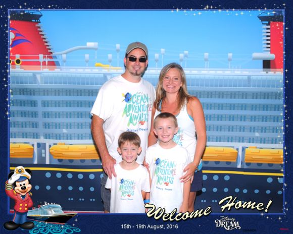 Boarding the Disney Cruise Ship