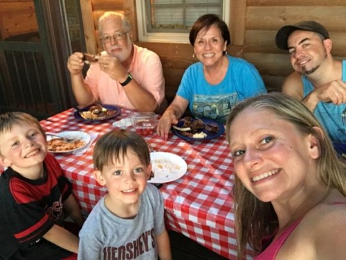 Dinner on the Deck at Hersheypark Camping Resort