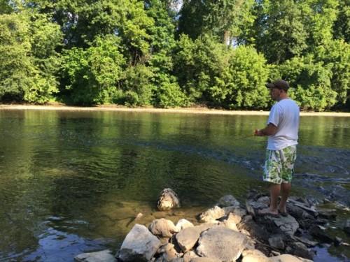 Fishing at Hersheypark Camping Resort