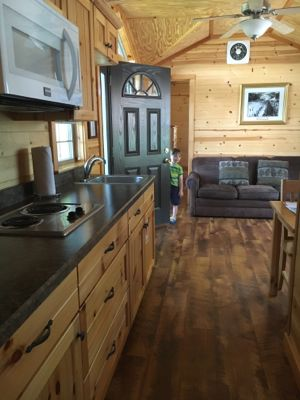 Hersheypark Cabin Kitchen