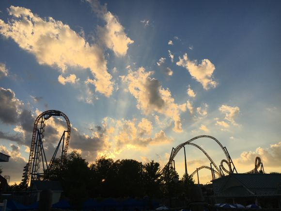 Sunset from Hersheypark Cabana