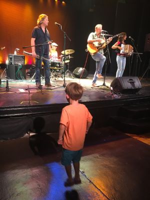 My son was off his seat (and his feet) for most of the concert!