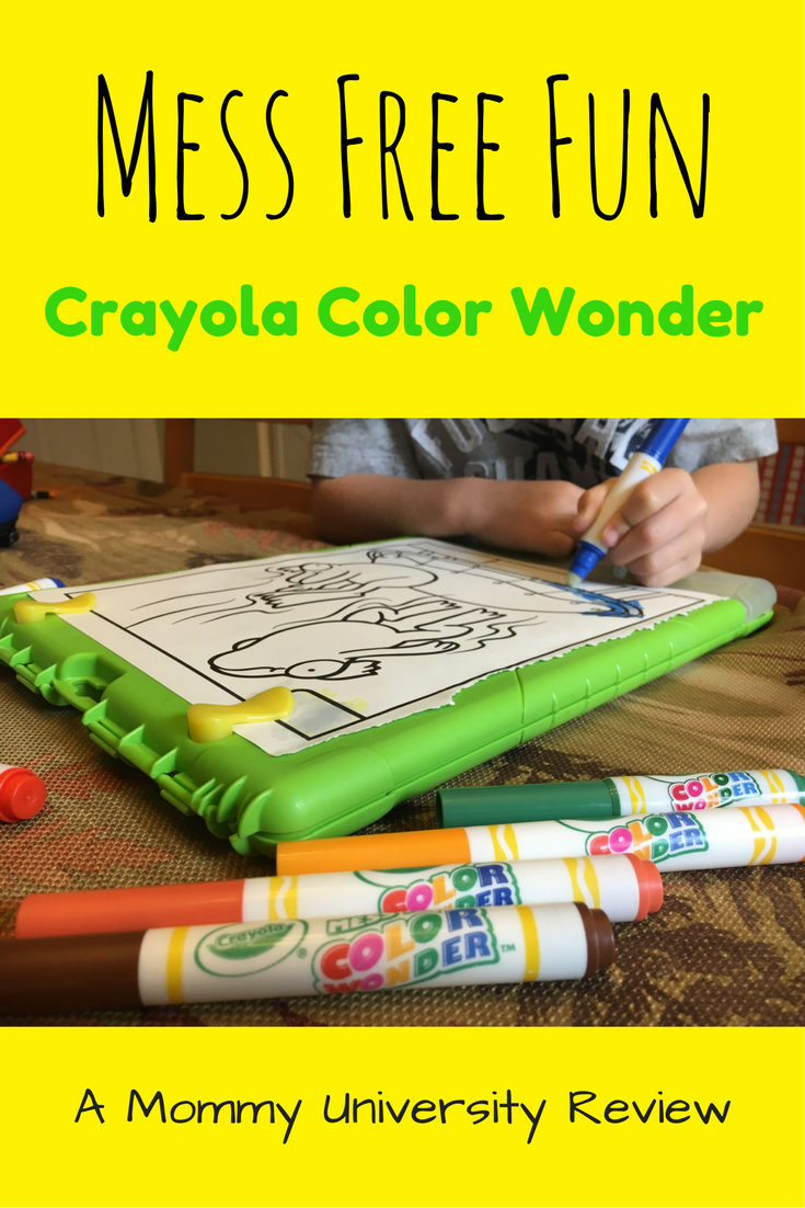 Mess Free Fun with Crayola Color Wonder | Mommy University