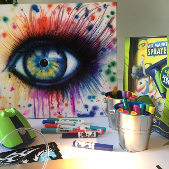 "The Crayola Air Marker Sprayer was displayed at Holiday of Play which captured our ""eye!"""