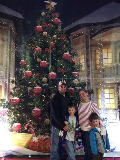 Family Picture at Skylands Christmas Village