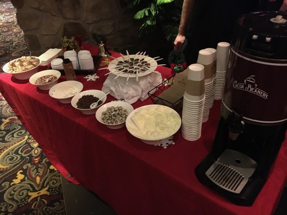 Hot Chocolate Bar at Hershey Lodge