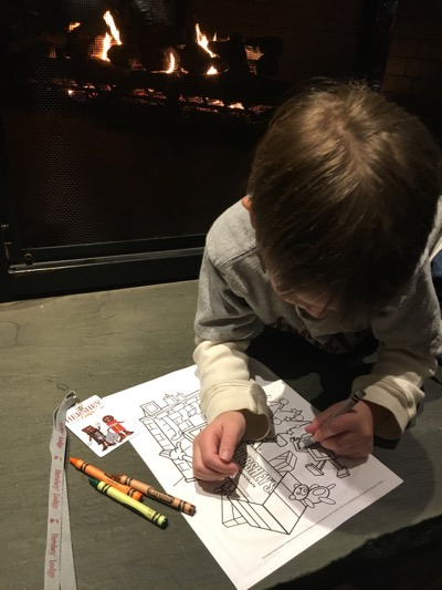 Coloring Fireside at Hershey Lodge