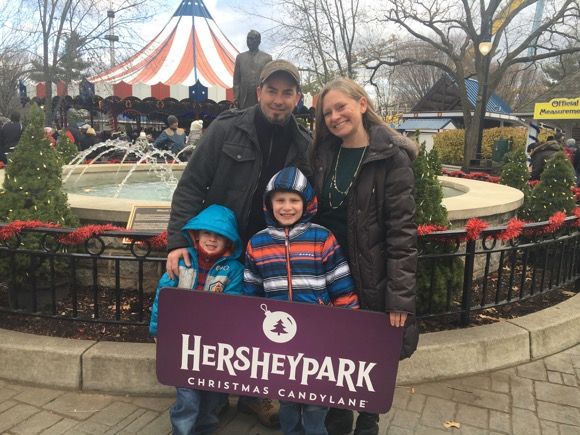 Family Picture at Hersheypark Christmas Candylane