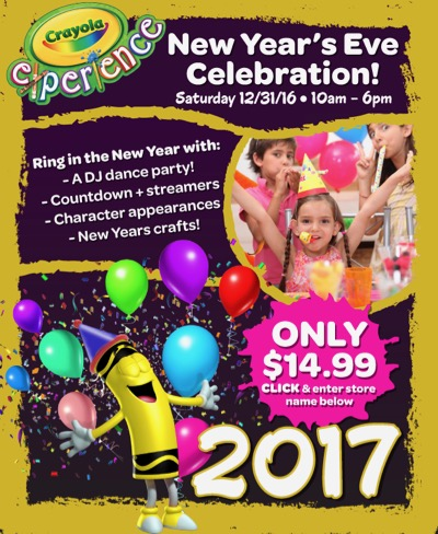 NYE at Crayola Experience