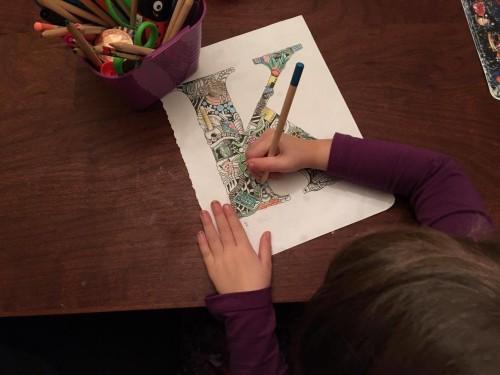 Color a Letter