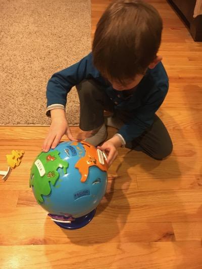 Puzzle Globe Race