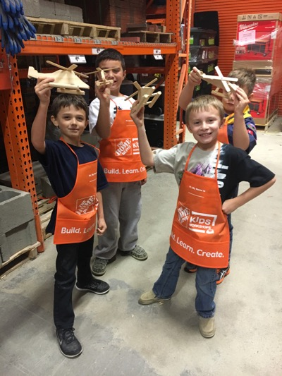 Cub Scouts at Home Depot