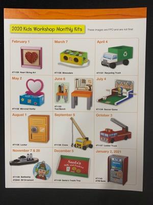2020 Home Depot Schedule