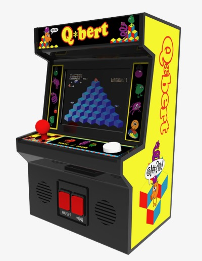 Q-Bert Mini Arcade Game