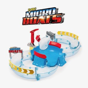 Micro Boats Shark Attack Challenge Playset
