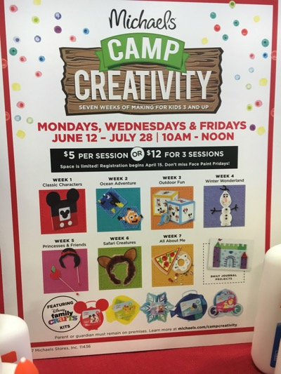 Camp Creativity Schedule