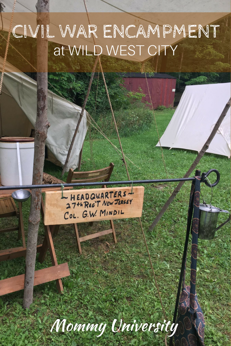 Civil War Encampment at Wild West City