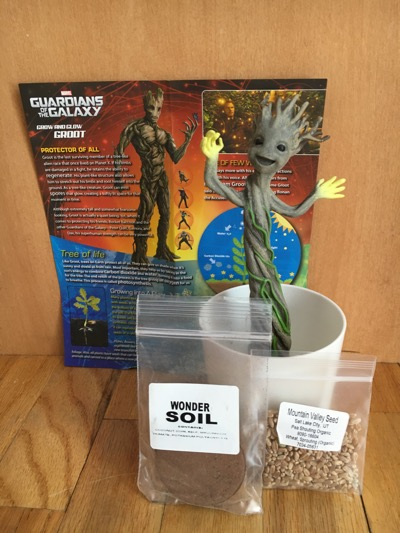 Pieces of Grow and Glow Groot