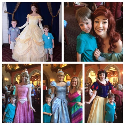 Trevor with Disney Princesses