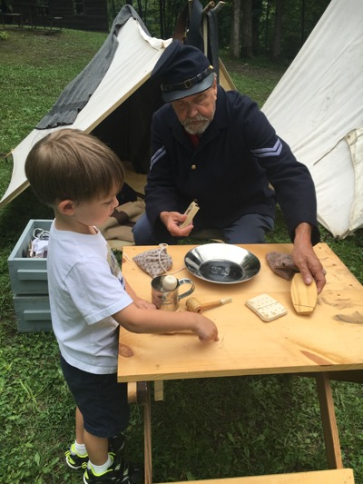 Hands-on Learning at Civil War Encampment