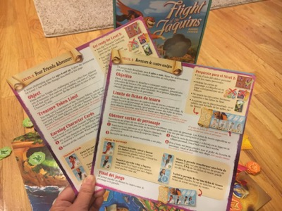 Bilingual Directions for Elena of Avalor Game