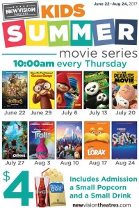 New Vision Theaters Kids Summer Movie Series