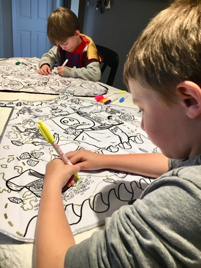 Coloring Capes Together