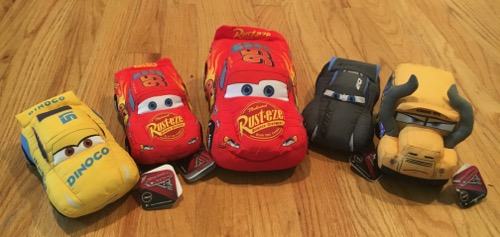 Just Play Cars 3 Plush toys