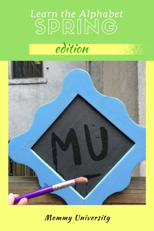learn the alphabet spring edition