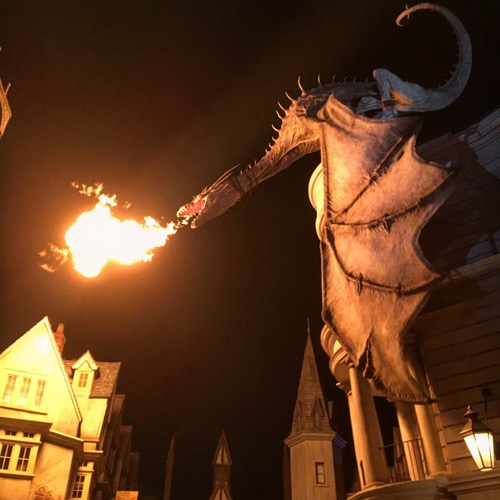 Fire Breathing Dragon at Dragon Alley