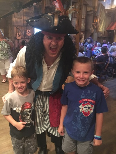 Meeting a Pirate at Pirates Voyage