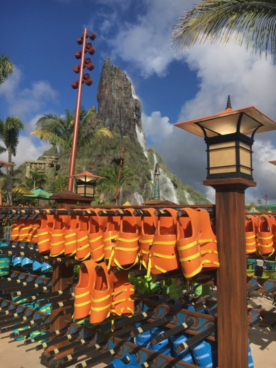 Life Jackets at Volcano Bay