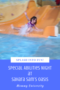 Special Abilities Night at Sahara Sam's Oasis Water Park