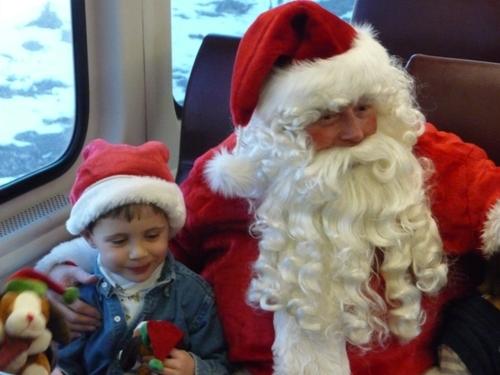 Santa on the Santa Train